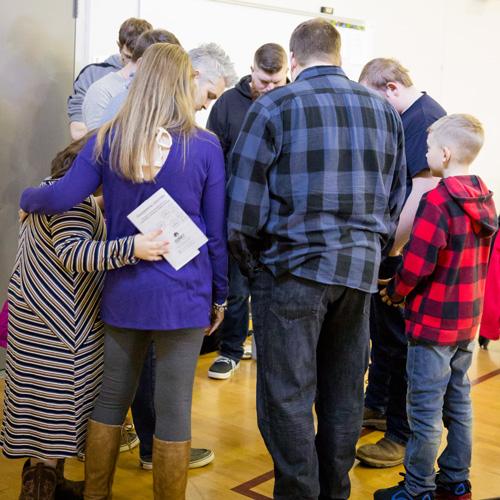 Praying before the Worship Gathering begins
